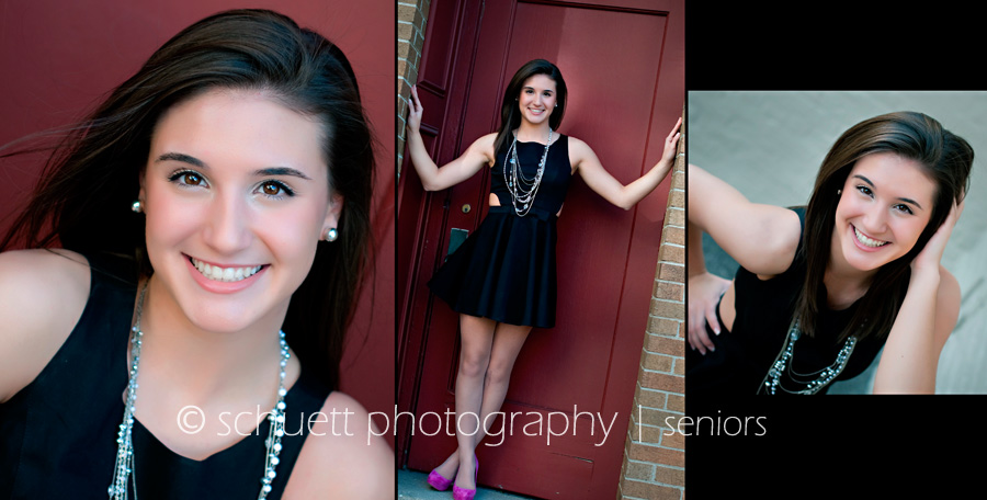 senior pictures in waukesha wisconsin with bright fun colors in an urban location