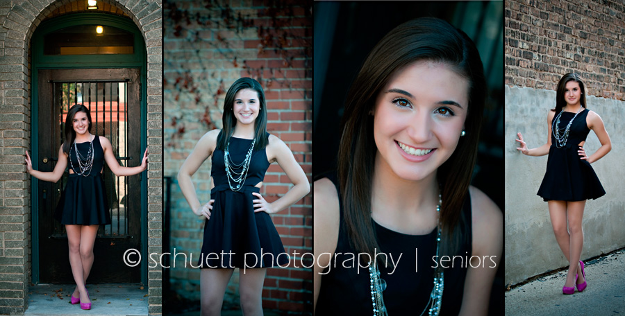 senior photography portraits in milwaukee wi with brick walls and old doorways for interesting colors and textures