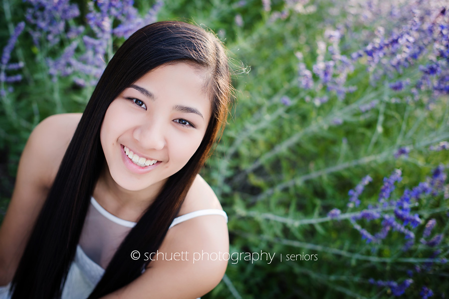 Beautiful flower outdoor senior pictures in Wisconsin