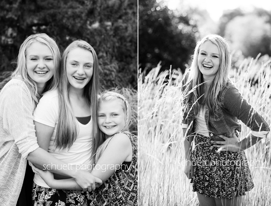 black and white sisters family photography senior pictures milwaukee wisconsin
