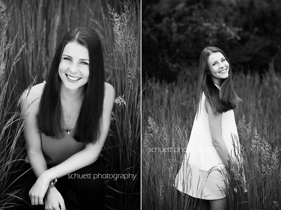 outdoor natural black and white senior photography wisconsin