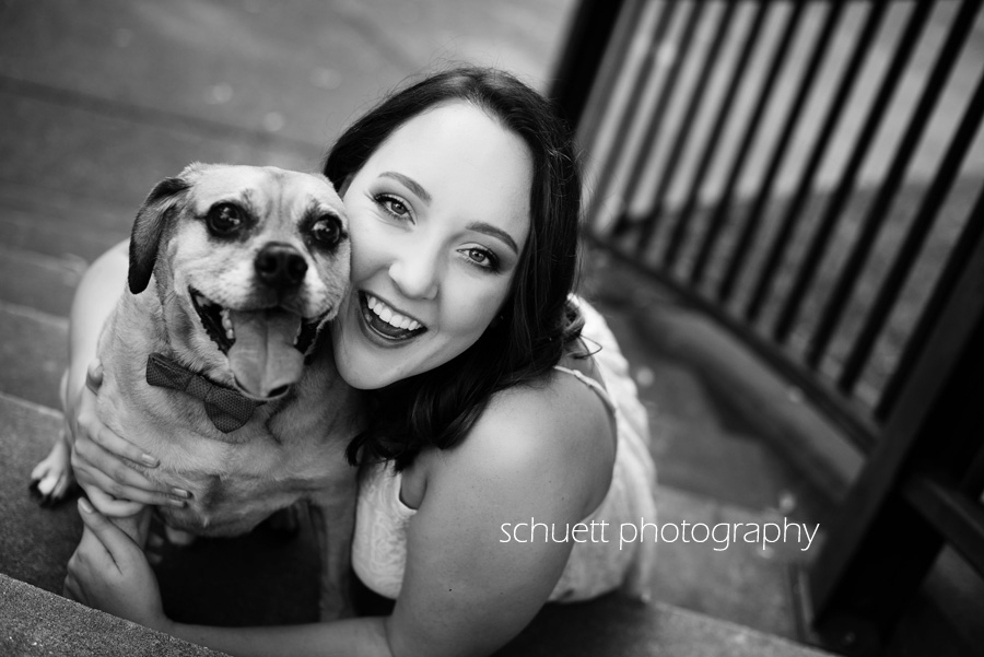 black and white senior pictures photography with pet dog senior session brookfield milwaukee wisconsin